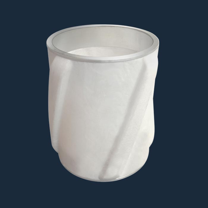 Thermoplastic Centralizer with swage metal ring
